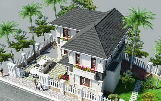 Thiết kế thi công nhà mái thái tại Bình Dương